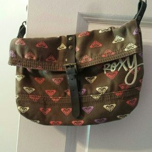 Roxy canvas crossbody mini messenger bag